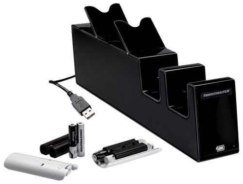 Thrustmaster Black T-Charge All-Double Docking Station and Charger for Ninetendo Wii (Wii)