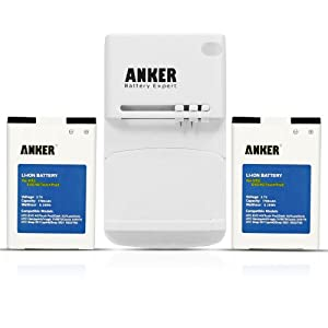 Anker® 2 x 1700mAh Li-ion Batteries for Sprint HTC EVO 4G, EVO Shift 4G, Droid Incredible; HTC Touch Pro2, Touch Pro 2, Snap; Fits A9292 + Free Anker Multi-purpose USB Travel Charger
