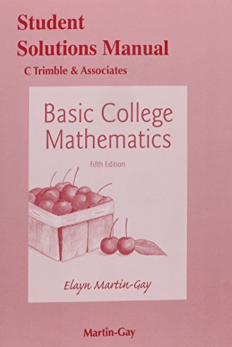 Student's Solutions Manual for Basic College Mathematics