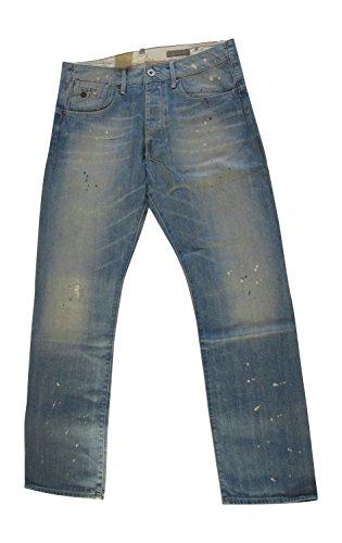 G-Star Raw structor Straight 030Em da uomo Jeans pantaloni 50597 stain denim paint vintage 3172.1975 Taglia unica