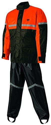 Nelson-Rigg Stormrider Rain Suit (Black/Orange, Medium) (Rain Suit Moto compare prices)