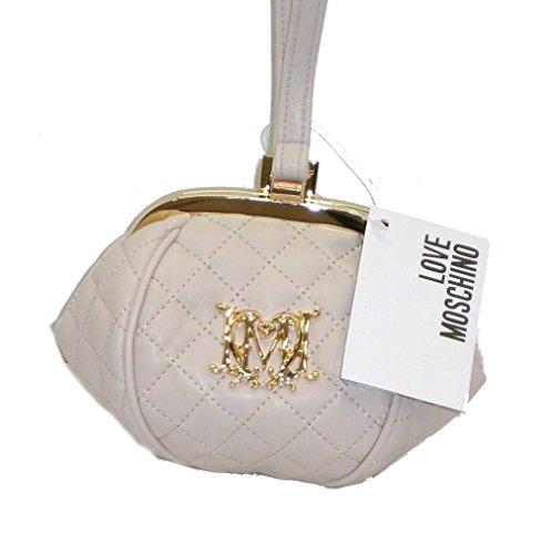 Borsa A MANO con manico clutch Love Moschino JC4105 minibag girls avorio trapuntata