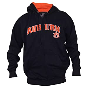 Auburn Tigers Classic Navy Full Zip Hoodie by 3 Four