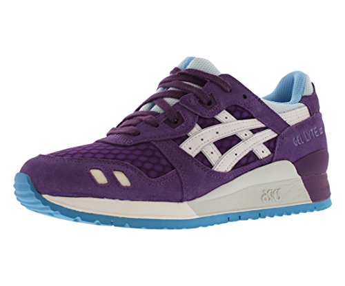 ASICS Women's Gel Lyte III Retro Running Shoe, Purple/White, 7 M US