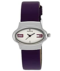 Maxima Attivo Analog White Dial Womens Watch - 27100LMLI