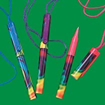 Fun Express Tie-Dyed Pens On A Rope - 12 Pieces