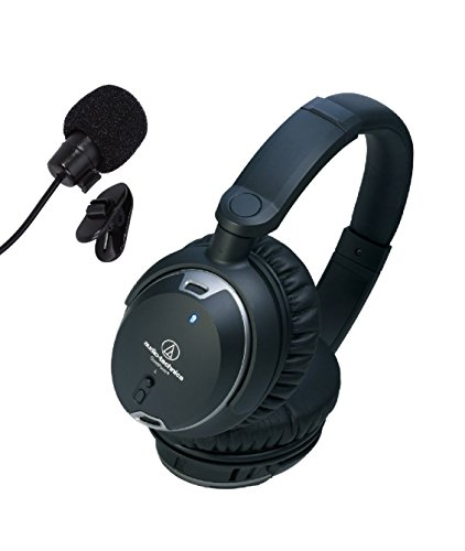 Audio Technica ATH-ANC9 QuietPoint Noise-Cancelling Headphones bundled with the inline mic