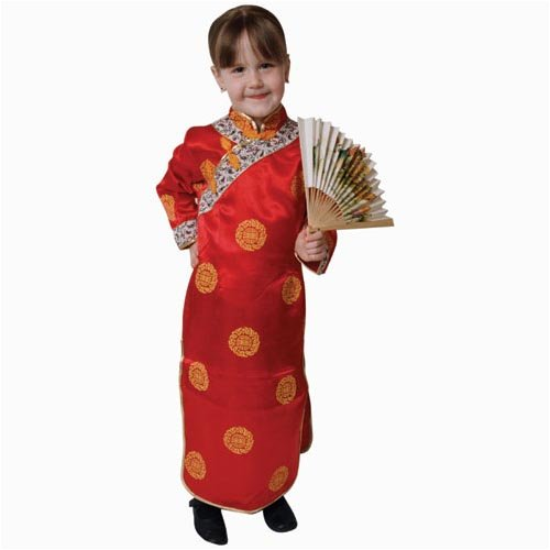 Deluxe Chinese Girl Costume Set - Medium 8-10