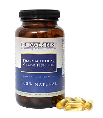 Dr. Dave's Best Pharmaceutical Grade Fish Oil |1000 mg Marine Lipid Omega 3 | 300 mg EPA | 200 mg DHA Per Liquid Softgel Capsule | Contains Vitamin D (Omega 3 Fish Oil 300 Epa 200 Dha compare prices)