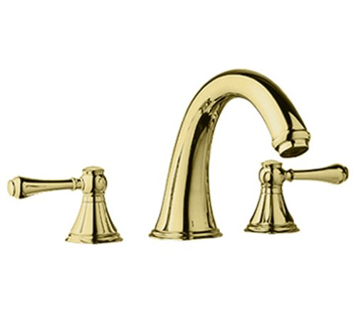 Grohe 25 054 R00 Geneva 3-Hole Roman Tub Filler, Infinity Polished Brass front-589698