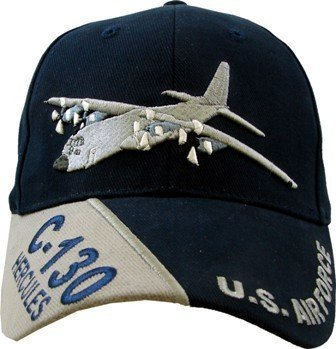 US Air Force 'C-130 Hercules' Embroidered Ball Cap