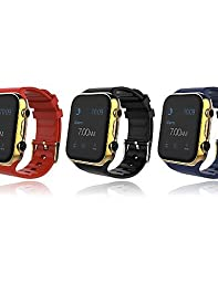 V8 PLUS Touch Screen Intelligent Smart Watch Mobile Phone Mate for IPhone IOS Samsung Android , gold