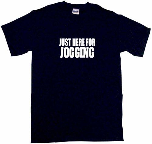 Just Here For Jogging Men'S Tee Shirt Large-Black