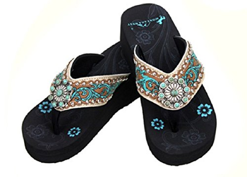 e4ec31312 Montana West NEW Women Rhinestone Concho Flip Flop Bling Sandals TRENDS SNJ  SHOES