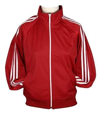 Adidas Womens Full Zip Lightweight Track Jacket (Medium, Red)