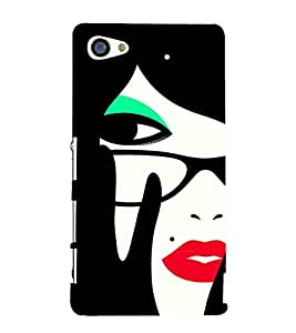 Mole beauty Girl 3D Hard Polycarbonate Designer Back Case Cover for Sony Xperia Z5 Compact :: Sony Xperia Z5 Mini