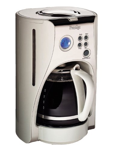 Prestige Deco Digital Coffee Maker, 1.5 Litre, Almond by Prestige