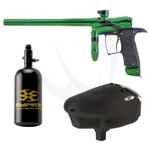 Dangerous Power G5 Green Paintball Marker + Empire 48/3000 Hpa Tank + Halo Too Hopper Loader - $20 Gift Card On Purchase G5, Offer Ends 12-31-2014!!!!