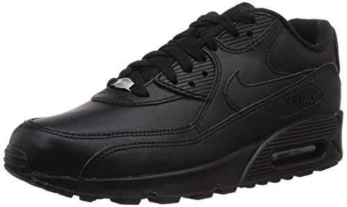 nike-air-max-90-leather-herren-sneakers-schwarz-black-black-44-eu