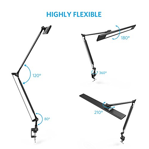 Anker Lumos E2 Dimmable Led Desk Lamp With Portable Clamp