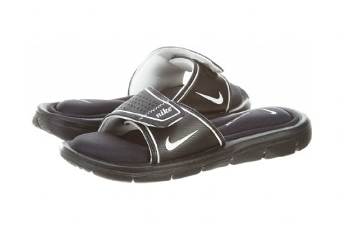 Nike Womens Comfort Slide Black/White Sandal 8 B - Medium
