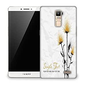 Snoogg Simple Text White Designer Protective Phone Back Case Cover For Oppo R7 PLUS