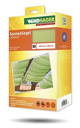 Toldo para estructura corredera Windhager 10882 420 x 140cm, verde manzana