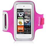 Pink iPod Touch 5 Sports Armband Case Cover for Excercise Protection Built in Screen Protector and Access to Controls From The Keep Talking Shop iPod Touch 5 Accessories