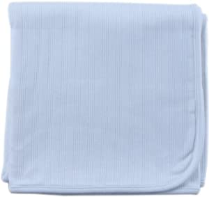 Hudson Baby Organic Receiving Blanket, Blue