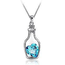 Sorella'z Blue Love Drift Bottle Pendant Necklace
