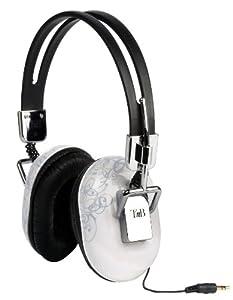 T'nB Addiction Casque stéréo avec enrouleur pour iPod/mp3/mp4/Téléphone portable Blanc