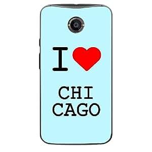 Skin4gadgets I love Chicago Colour - Light Blue Phone Skin for MOTO X2 (X+1)
