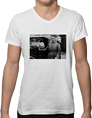 hitler-minions-funny-lodo-new-short-sleeve-v-neck-mens-t-shirt