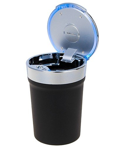 Universal Portable Cup Style LED Ashtray for Car Use(1 x CR2032) , black