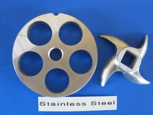 Size 12 X 3/4 In Meat Grinder Grinding Plate And Knife Set For Hobart Lem Cabelas Mtn Torrey Etc. *Stainless Steel*