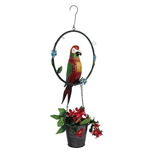 Wonderland Iron / metal Hanging Parrot Pot / Planter