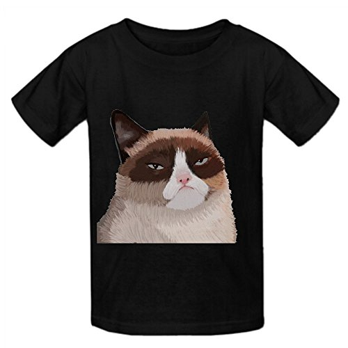 Grumpy Cat Oog Youth Crew Neck Personalized T Shirt Black