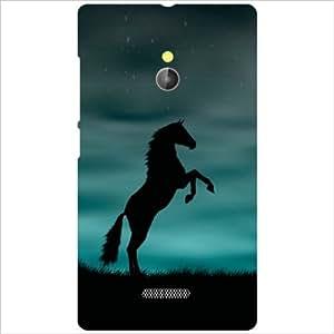 Nokia XL RM-1030/RM-1042 Back Cover - Black Horse Designer Cases