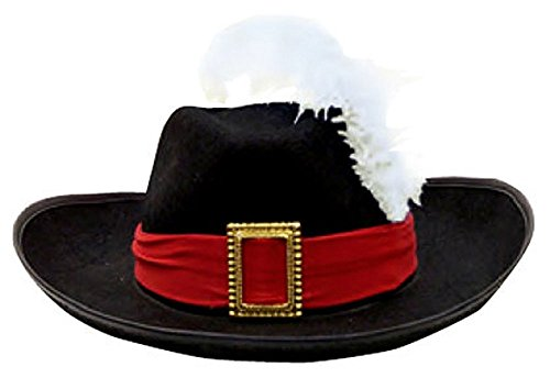 [J21159 Musketeer Hat Puss & Boots] (Adult Musketeer Costumes)