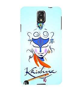 Lord Sri Krishna Ji 3D Hard Polycarbonate Designer Back Case Cover for Samsung Galaxy Note 3 N9000 :: Samsung Galaxy Note 3 N9002 :: Samsung Galaxy Note 3 N9005 LTE
