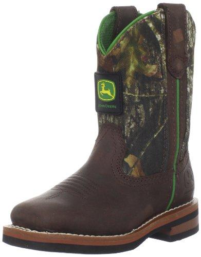 John Deere 2368 Western Boot (Toddler/Little Kid),Tan/Camo,1.5 M US Little Kid