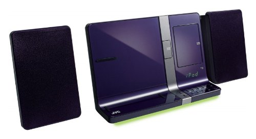 Review and Buying Guide of Buying Guide of JVC CD Micro HiFi Speaker System with Dock for iPad, iPhone and iPod - Violet