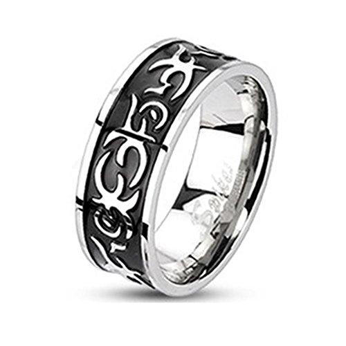 paula-fritzr-anillo-de-acero-inoxidable-acero-quirurgico-316l-negras-8-mm-de-ancho-de-banda-con-anil