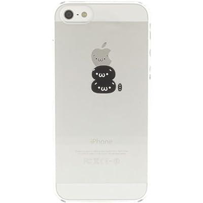 SoftBank au iPhone 5 専用 Applus キャラクター ハード クリア iPhone5 ケース カバー (黒ショボーン)