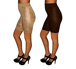 Shape Changers Shaping Shorts Nude Large Reshape Your Figure