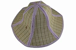Chinese Style Foldable Straw Sun Cap Visor Hat For Mens And Women Purple