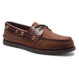 Sperry Top-Sider Men\'s Authentic Original Deck Shoes,Brown/Brown,10.5 S US