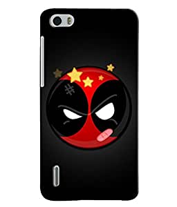 EU4IA DEADPOOL MATTE FINISH 3D MATTE FINISH Back Cover Case For Huawei Honor 6 - D668