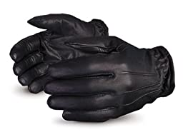 Superior 378SXB Clutch Gear Frisk Duty Grain Goatskin Leather Glove, Work, Cut Resistant, 3X-Large, Black (Pack of 1 Pair)
