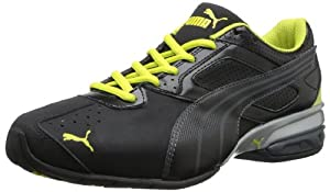 PUMA Men's Tazon 5 Nm Running Shoe,Black/Dark Shadow/Fluorescent Yellow,10 M US